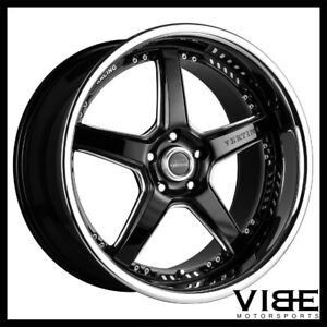 20 Vertini Drift Black Five Star Wheels Rims Fits Chevrolet Camaro Ls Lt