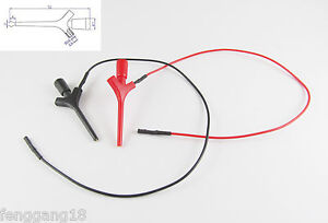 10 Sets High Quality Test Hook Clip Liers Probes Aircraft Smd Ic Jumper W Cable