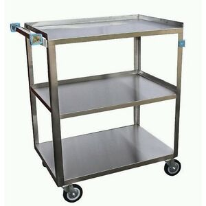 Ace Stainless Steel Utility Bus Cart 18 w X 29 l X 34 h C 3222 02 Nsf