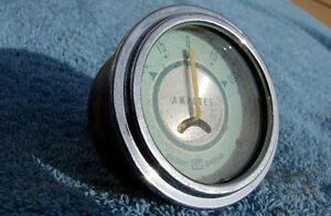 Vintage Stewart Warner 427275 Teal green 30 amp Ampere Gauge Hot rod rat