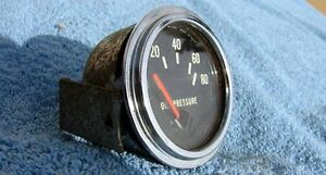 Vintage Hot rod rat Stewart Warner 336 80 lb Oil pressure Gauge