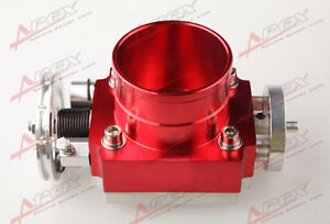 70mm Universal Throttle Body Cnc T6 Aluminum Red