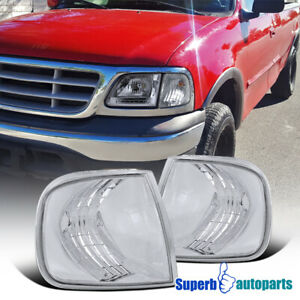 1997 2003 Ford F150 Expedition Corner Lamps Signal Lights Chrome Clear