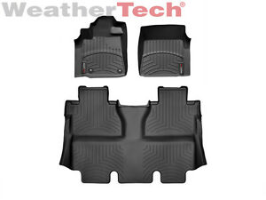 Weathertech Floor Mats Floorliner For Toyota Tundra Crewmax 2014 2019 Black