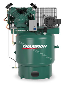 Industrial 7 5 Hp Air Compressor Single Phase Low Rpm Usa Made 25 8 Cfm