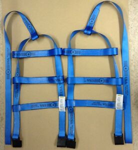Kar Kaddy Basket Straps Tow Dolly Wheel Net Set Flat Hooks Blue Usa