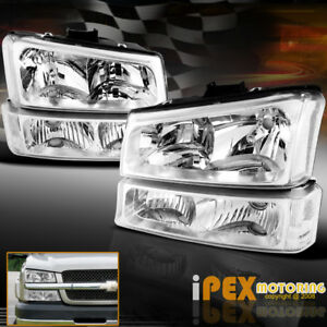 Chrome 2003 2006 Chevy Silverado 1500 2500 3500 Head Light Bumper Signal Lamp