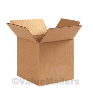 100 Boxes 50 Each 6x6x4 6x6x6 Shipping Packing Mailing Moving Corrugated Carton