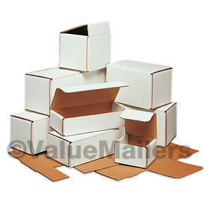 50 8x8x4 White Corrugated Shipping Packing Box Boxes Mailers 8 X 8 X 4