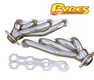 1986 1993 Mustang 5 0 Pypes Polished T304 Stainless Steel Shorty Headers