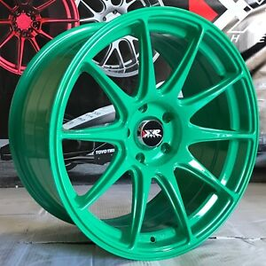 Xxr 527 Green 18 Concave Rims Staggered Wheels 5x4 5 94 98 Ford Mustang Cobra Gt
