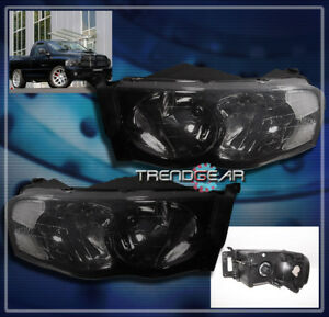 2002 2005 Dodge Ram Pickup Crystal Headlight Lamp Smoke 2003 2004 1500 2500 3500