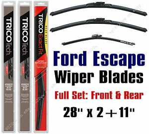 2013 2019 Ford Escape Wiper Blades 3 Pack Front Rear Wipers 19280x2 11g