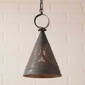 Madison Witch S Hat Hanging Pendant Light In Kettle Black By Irvin S Tinware