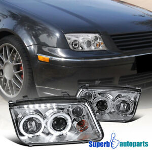 For 1999 2004 Jetta Led Dual Halo Projector Headlight W Fog Lamps
