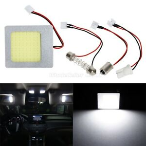 Usa White 48 Chips Cob Led Dome Light Panel Interior Bulb Lamp T10 Ba9s Festoon