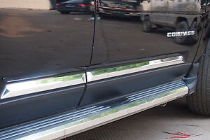 New Chrome Body Door Molding Trim For Jeep Compass 2011 2012 2013 2014 2015 2016