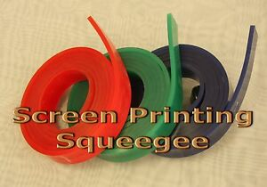 Screen Printing Squeegee Single 50mm X 9mm X6 72 Roll 70 Duro green Color