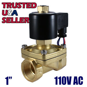 1 110v Ac Normally Open Electric Brass Solenoid Valve Gas Water 110 Volts Vac