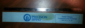 Precision Brand Feeler Gauge Tempered And Polished 12 X 1 2 X 009