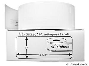 20 Rolls Of 500 Multipurpose Labels In Cartons For Dymo Labelwriters 30336