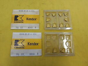 12 Indexable Carbide Inserts Lathe Turning Tool Or Mill Kennametal Tng 222