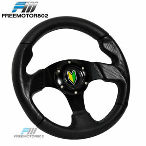 6 Hole Steering Wheel Type 2 280mm Black With Horn Bd Logo Universal For Any Car