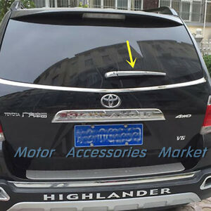 New Chrome Trunk Rear Window Wiper Cover Trim For Toyota Highlander 2011 2013
