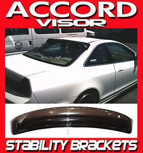 1998 2002 Accord Coupe Cg Rear Window Roof Deflector Visor Shade With Brackets