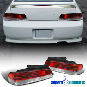 For 1997 2001 Honda Prelude Jdm Tail Lights Brake Lamps Red clear