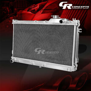 Dual Core Full Aluminum Racing 2 Row Radiator 90 97 Mazda Miata Mx5 Mx 5 B6ze Na