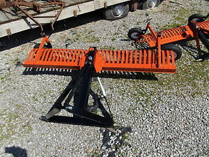 York 6 Foot 3 Point Hitch Rock Rake With Guide Wheels 6