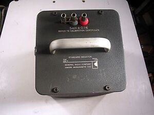 General Radio Standard Inductor Model 1482 g Tested Good