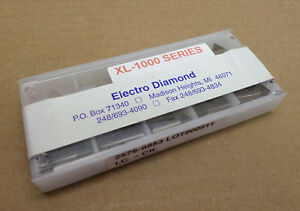Lot Of 10 Electro Diamond Tools Xl 1000 Series Cbn Triangular Inserts