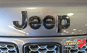 2013 2017 Jeep Grand Cherokee Black Replacement Hood Nameplate Emblem Mopar Oem
