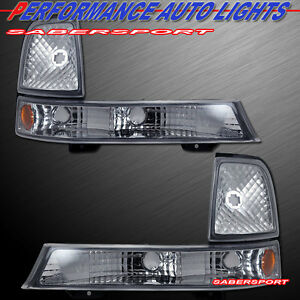 Set Of Pair Euro Clear Corner Signal Lights For 1998 2000 Ford Ranger