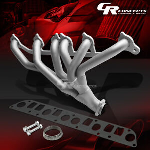 For 91 99 Wrangler Grand Cherokee 4 0l Stainless Paint Finished Exhaust Header