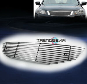 For 2008 2010 Honda Accord Coupe 2dr Main Upper Billet Grille Aluminum Polished