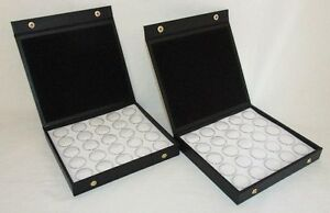 2 Pack Gem Storage Textured Top Cases With 25 Jars Each white Foam