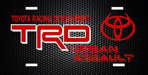 Trd Jdm Japanese License Plate 6x12