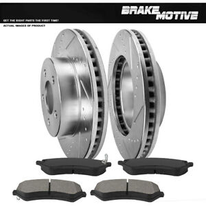 Front Drill And Slot Brake Rotors Metallic Pads For Jeep Liberty 2002 2007