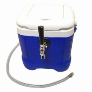 Mini Jockey Box Cooler Single Faucet 50 Stainless Steel Coil 12qt Draft Beer