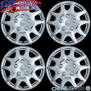 4 New Oem Chrome 14 Hub Caps Fits 2003 Current Toyota Matrix Wheel Covers Set