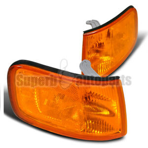 For 1994 1997 Honda Accord Jdm Signal Lamps Corner Lights Amber