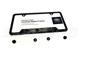Genuine Land Rover License Plate Frame Black With Logo And Union Jack Vplvy0073