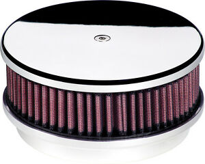 Billet Specialties Smooth Polished Aluminum Air Cleaner small Round 6 3 8 15129