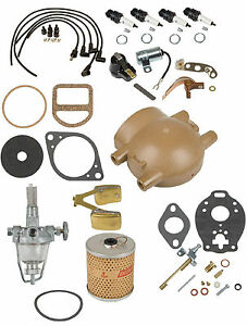 Comprehensive Maintenance Tune Up Kit W Carb Float Ford 9n 2n 8n Front Mount