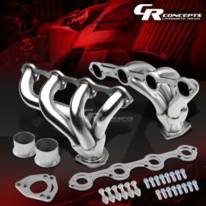 For Ford 351w 5 8 Small Block Hugger Stainless Tight Fit Exhaust Manifold Header