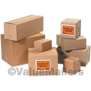50 12x12x8 Shipping Packing Mailing Moving Boxes Corrugated Cartons Storage Box