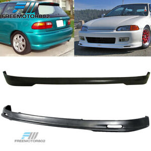 For 92 95 Honda Civic Eg 3dr Mugen Front Rear Bumper Lip Spoiler Bodykit Pu